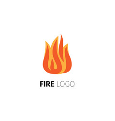 fire flame logo template vector image