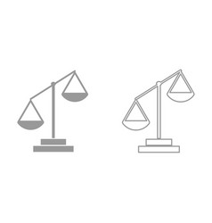 law scale it is black icon vector image vector image