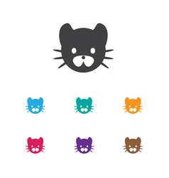 of animal symbol on wild cat vector image vector image