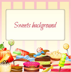 Sweets Food Background vector image