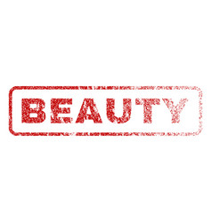 beauty rubber stamp vector image vector image