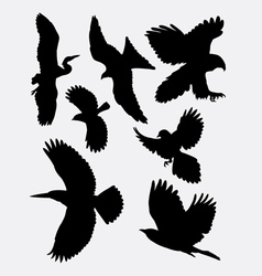 Bird flying animal silhouette 1 vector image