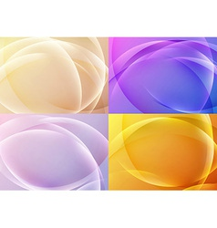 Bright abstract halftone backgrounds collection vector image