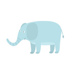 cute cartoon blue elephant with big ears vector image vector image