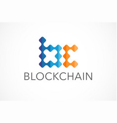 innovative concept logo for blockchain industry vector image
