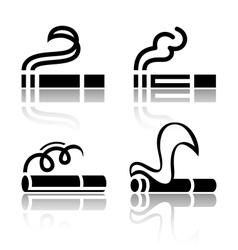 Set of symbols cigarettes vector image
