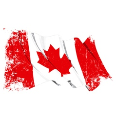 Canada Flag Grunge vector image vector image