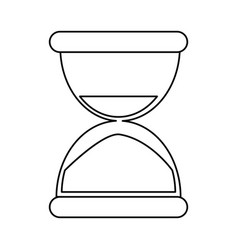 sand clock time thin line vector image