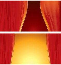 stage curtain vector image