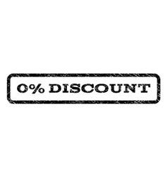 0 percent discount watermark stamp vector