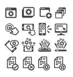 application icon vector image