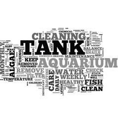 Aquarium care guide text word cloud concept vector