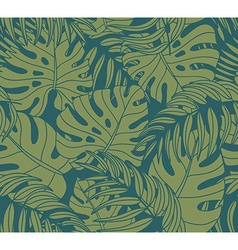 Beautiful seamless tropical jungle floral pattern vector