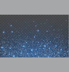 blue glitter sparkle on a transparent background vector image