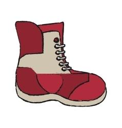 Boot of winter cloth design vector