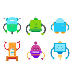 Bot creatures collection vector