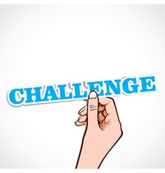 Challenge word in hand vector