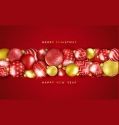 Christmas background with horizontal shining vector