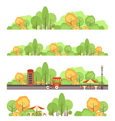 City park set vector