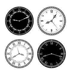 Clock faces elegant design parts watches vector