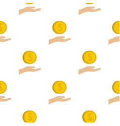 Coin logo flat style vector