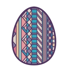 Colorful easter egg design with figure geometric vector