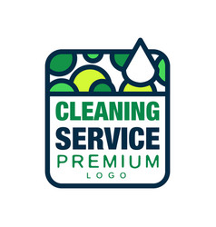 Creative logo for house or office cleaning service vector