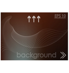 dark background and white lines vector image