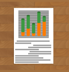 Document with layer chart vector