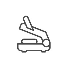 electric grill line outline icon vector image