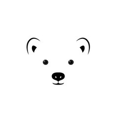 face of a small polar bear vector image