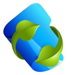 file folder icon isolated on white vector image