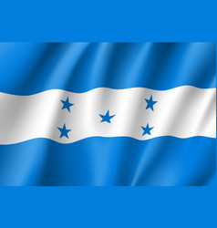 Flag honduras realistic icon vector