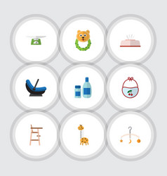 flat icon kid set of tissue children scales vector image