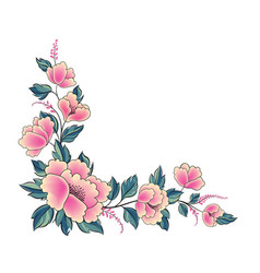 Floral background flower rose bouquet decorative vector