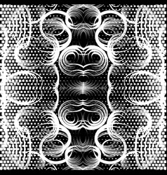 geometric black and white beautiful seamless vector image