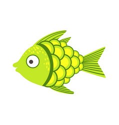 green and yellow fantastic colorful aquarium fish vector image
