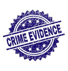 Grunge textured crime evidence stamp seal vector