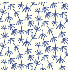 hand drawn bamboo floral seamless pattern vector image