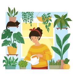 Home gardening vector