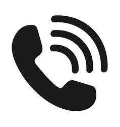icon phone handset vector image