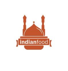 indian food logo design inspiration in brown color vector image