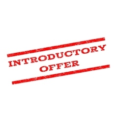 Introductory Offer Watermark Stamp vector image