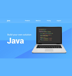 Java programming code technology banner java vector