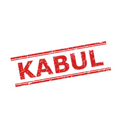 Kabul stamp with corroded texture and double vector