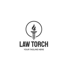 law torch logo designs vector image