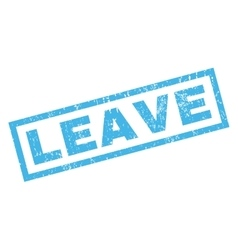 Leave Rubber Stamp vector