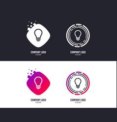 light lamp sign icon idea symbol vector image