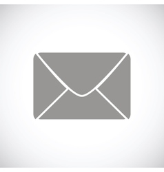 Mail black icon vector