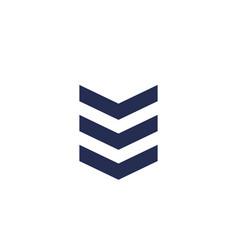 Military rank chevron vector